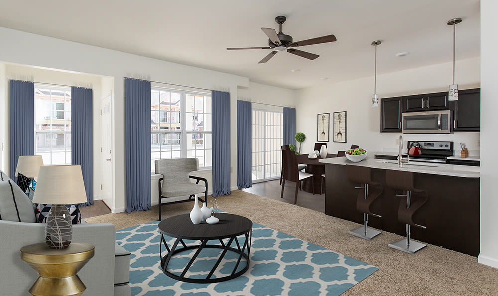 Our apartments & townhomes in Avon, NY have a cozy living room