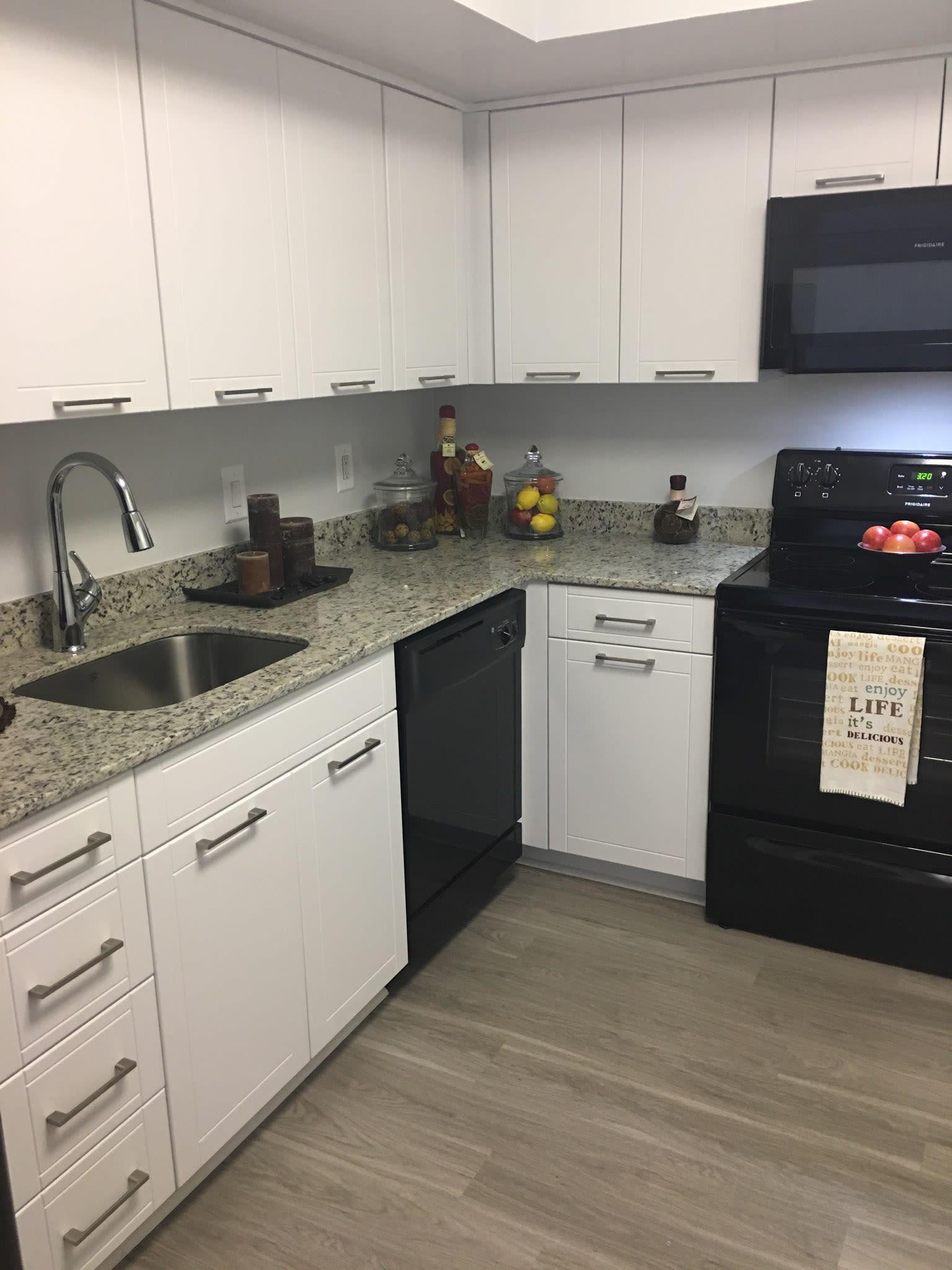 Kitchen at Marina del Mar in Sunny Isles Beach, Florida