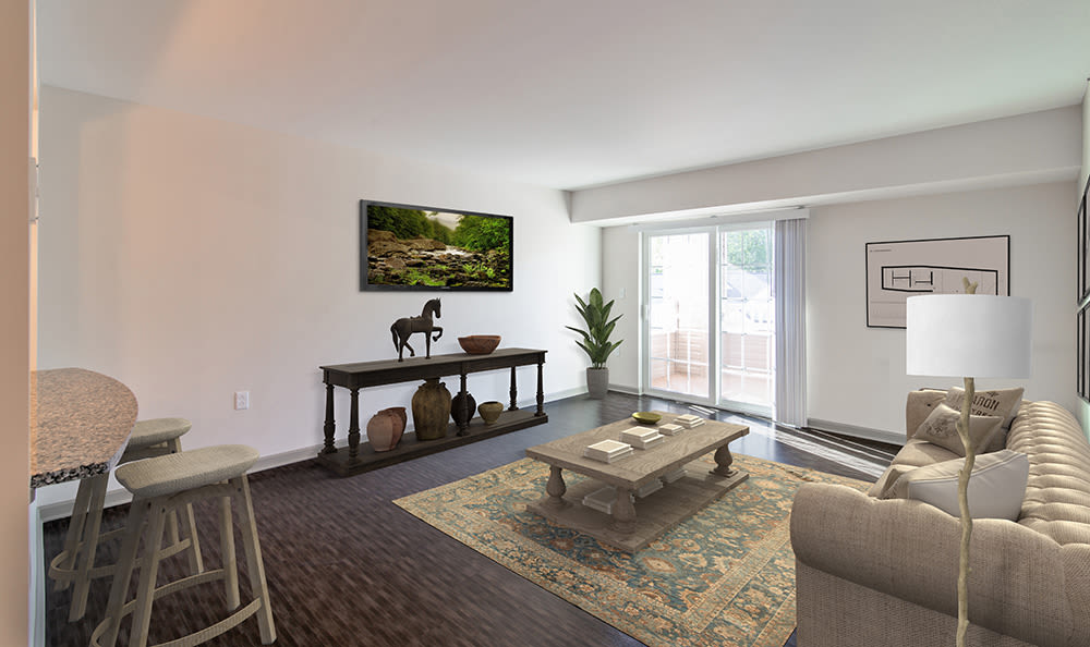 Enjoy apartments with a spacious living room at Greenwood Cove Apartments