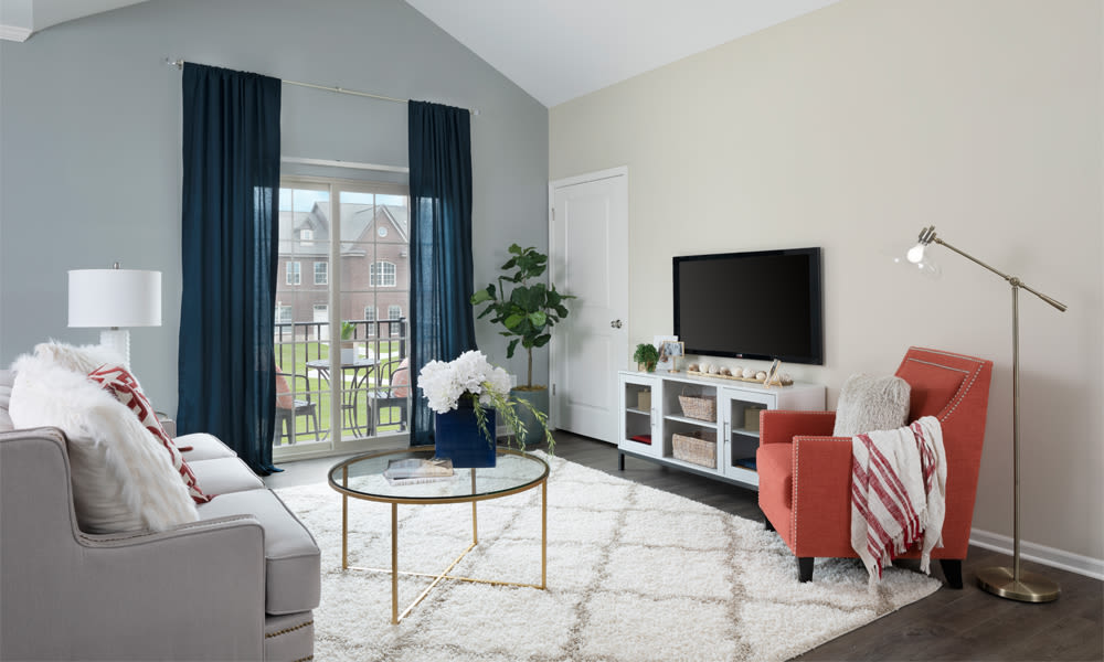Enjoy a luxury living room at Park West