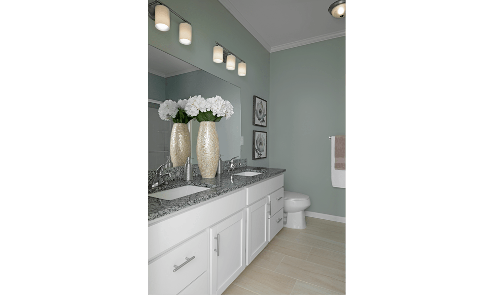 Beautiful bathroom at apartments in Canton, Michigan