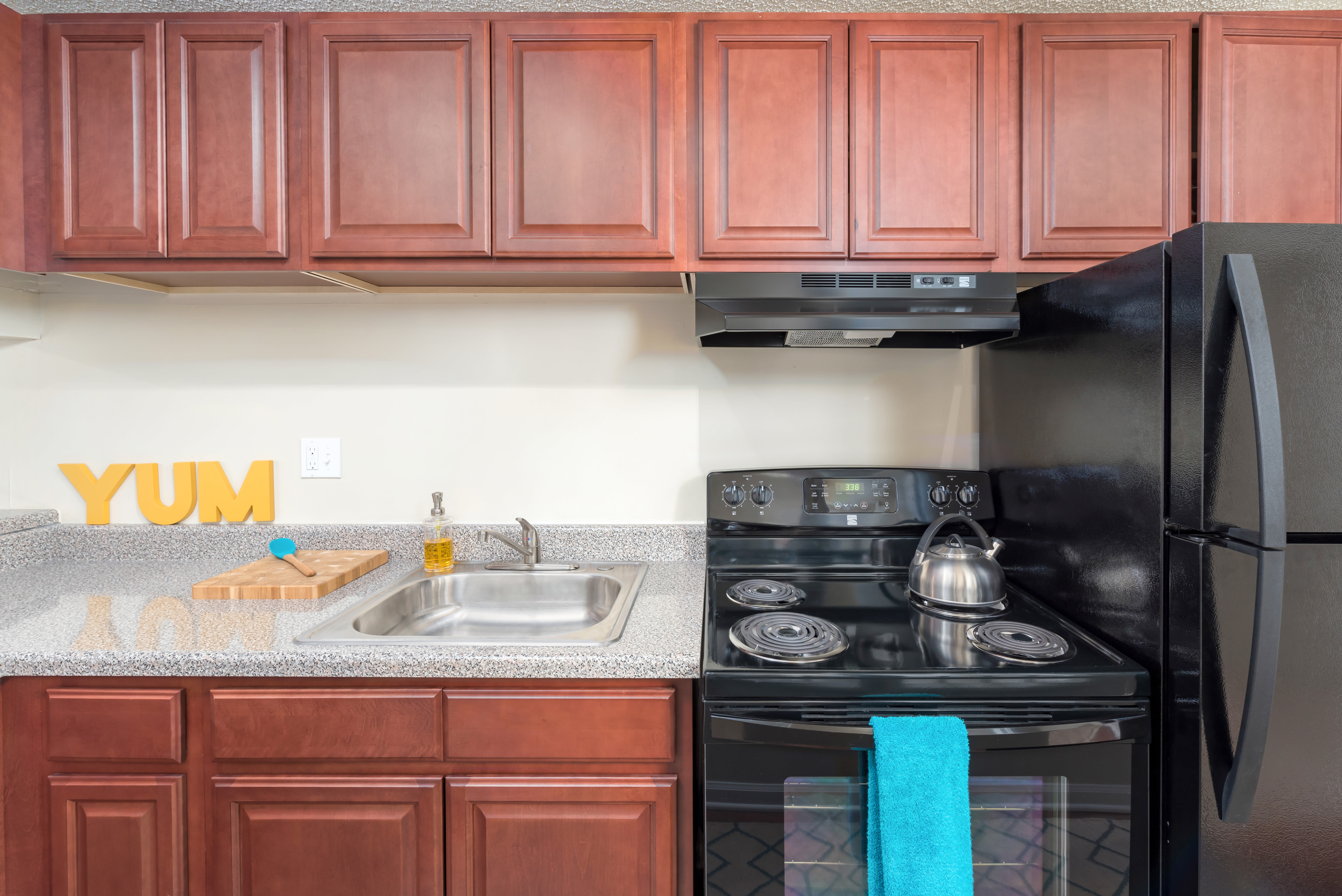 State-of-the-art kitchen at apartments in Richmond, Virginia