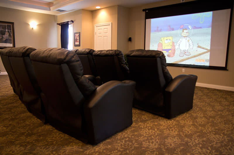 Home theater room at Winchester Park in Groveport, Ohio