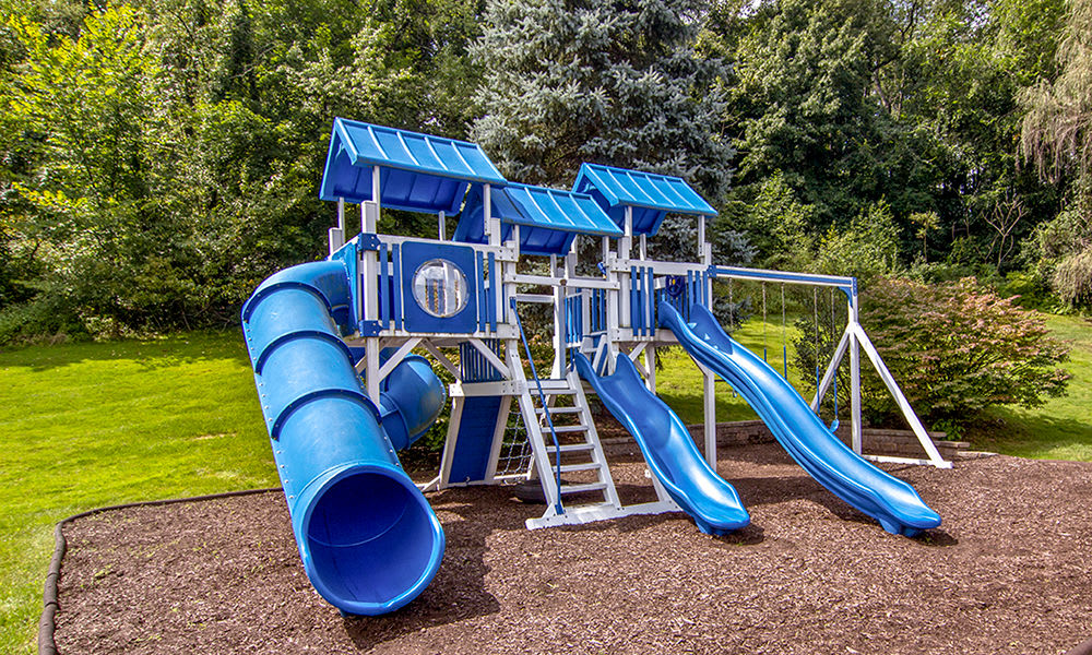 Playground at apartments in Pittsburgh, Pennsylvania