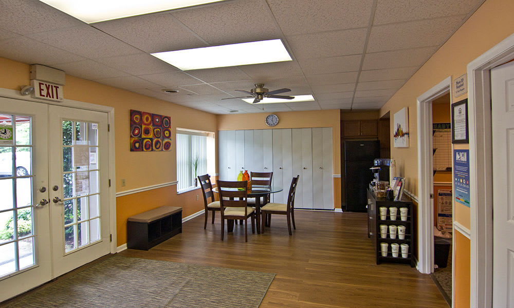 Community room at apartments in Pittsburgh, Pennsylvania