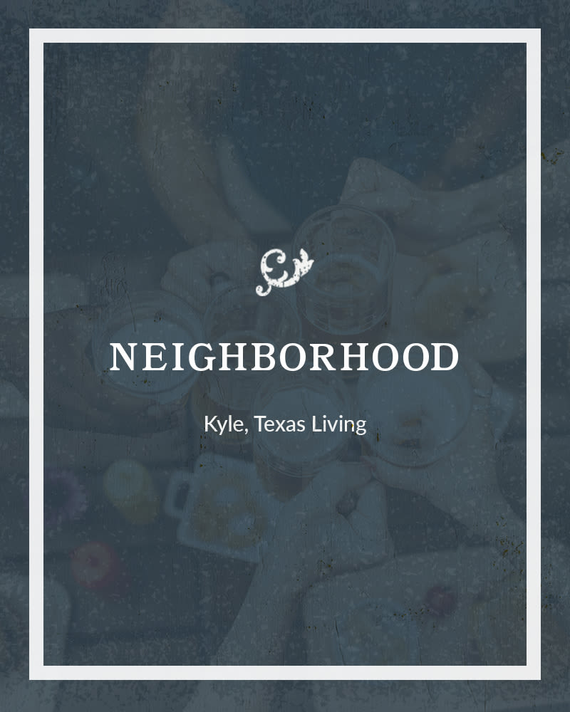 Plum Creek Vue neighborhood in Kyle, Texas