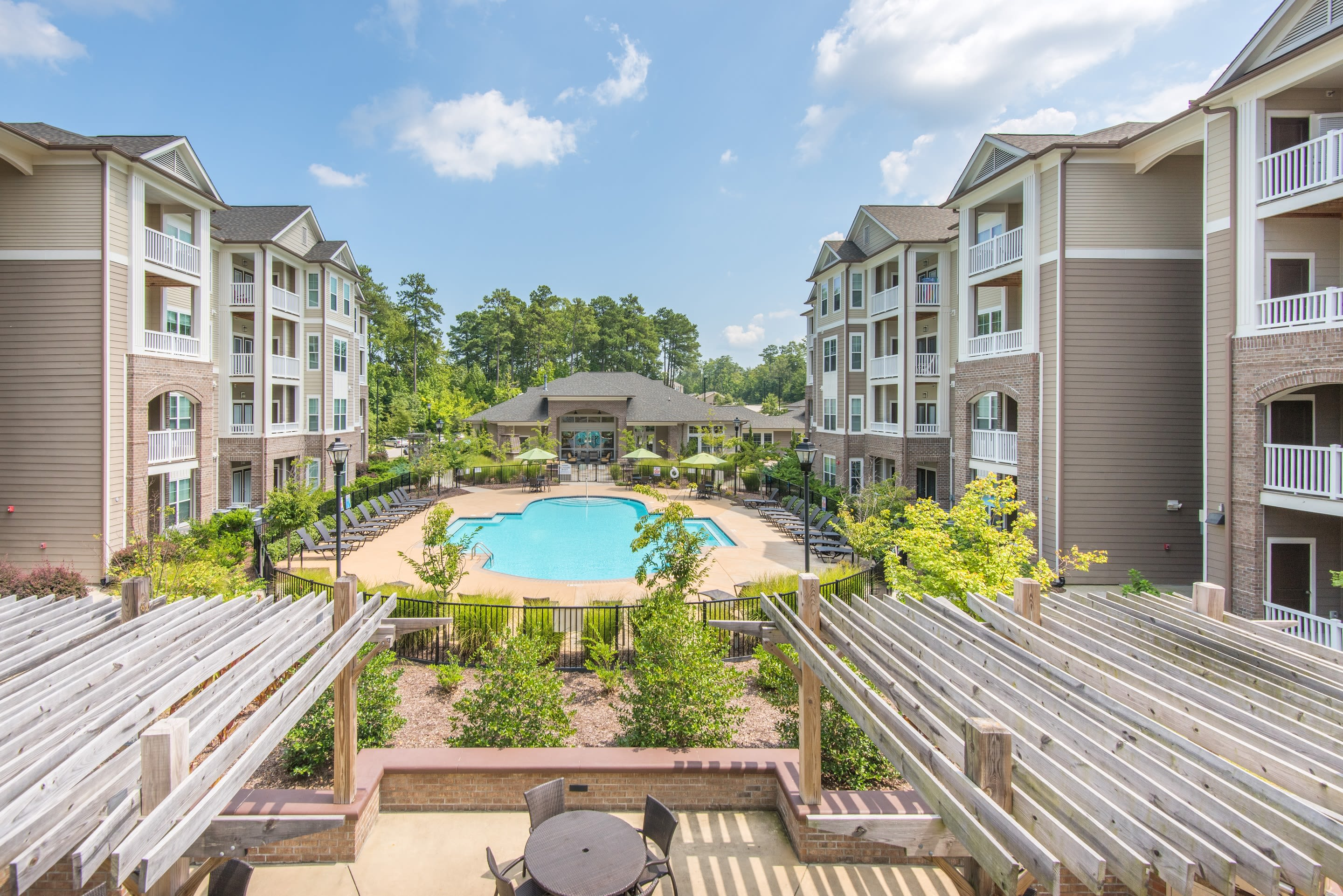 Sterling Town Center offers a resort style pool in Raleigh, North Carolina