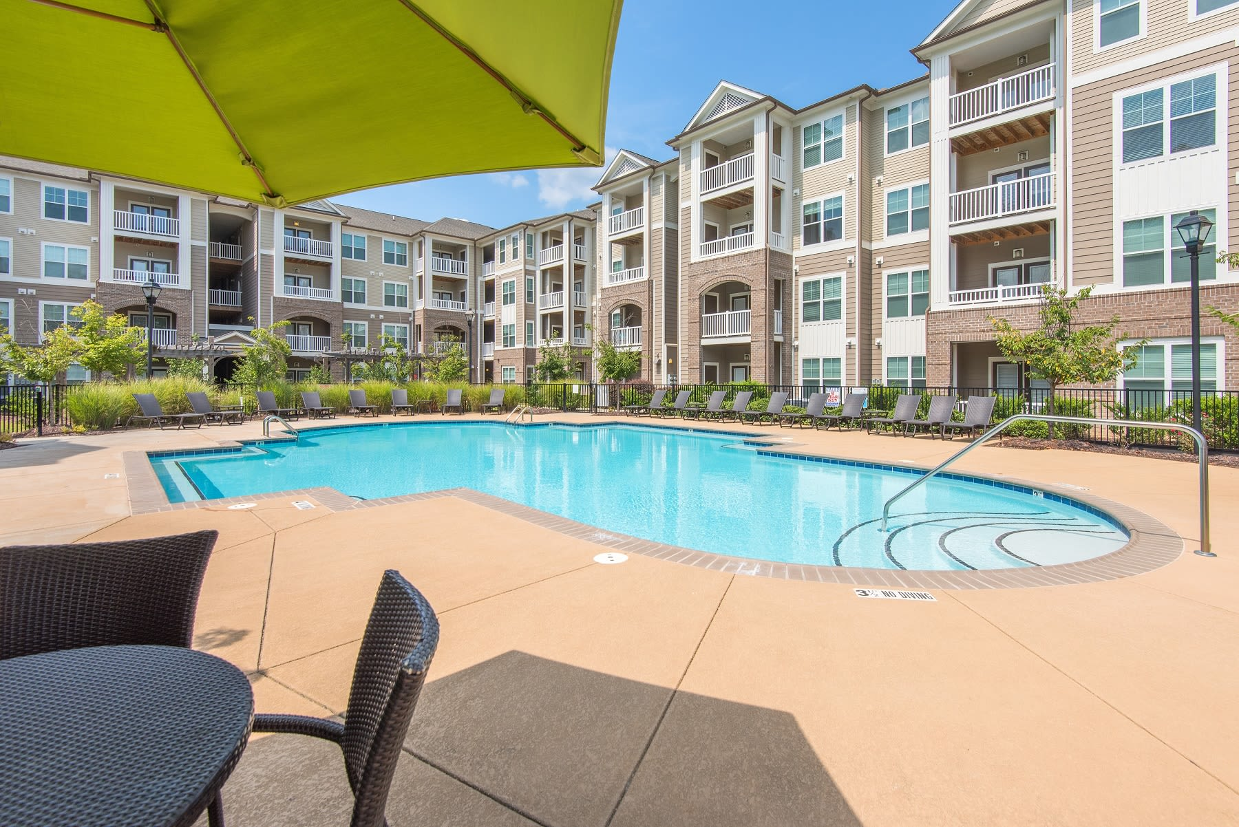 Sterling Town Center offers a spacious swimming pool in Raleigh, North Carolina