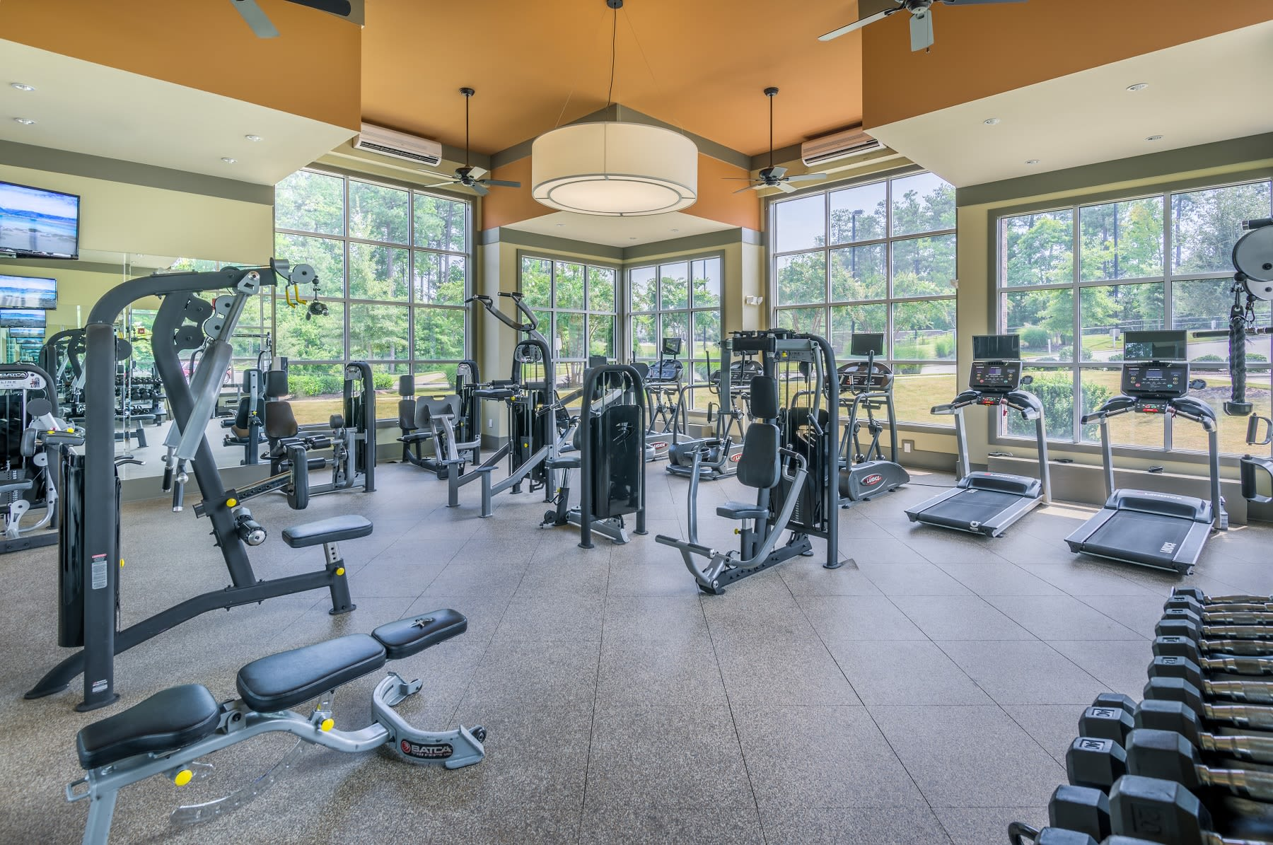 Our apartments in Raleigh, North Carolina showcase a state of the art fitness center