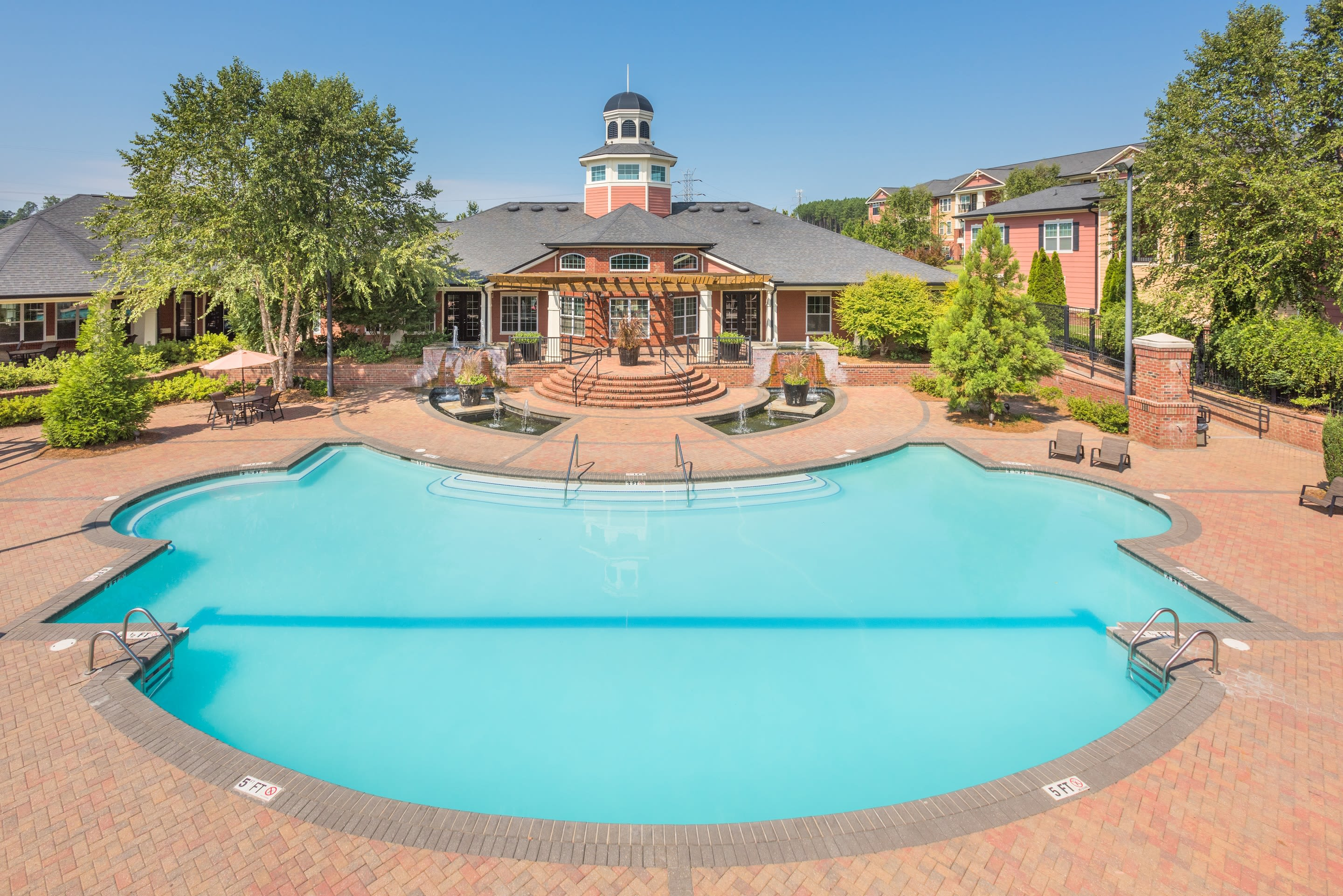 Resort style pool at The Vive in Kannapolis, North Carolina