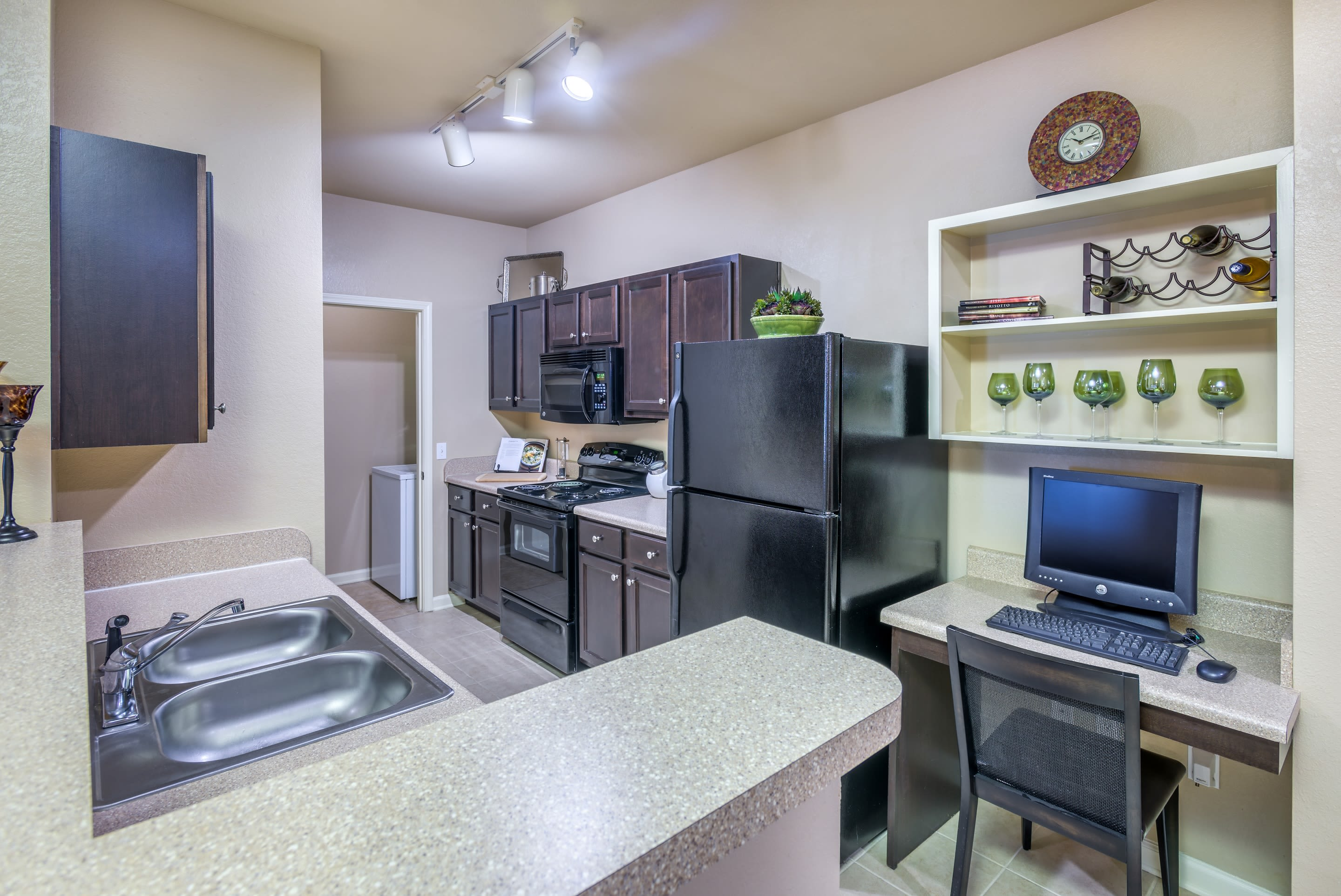 Renovated Apartments with built-in desks at The Vive in Kannapolis, North Carolina