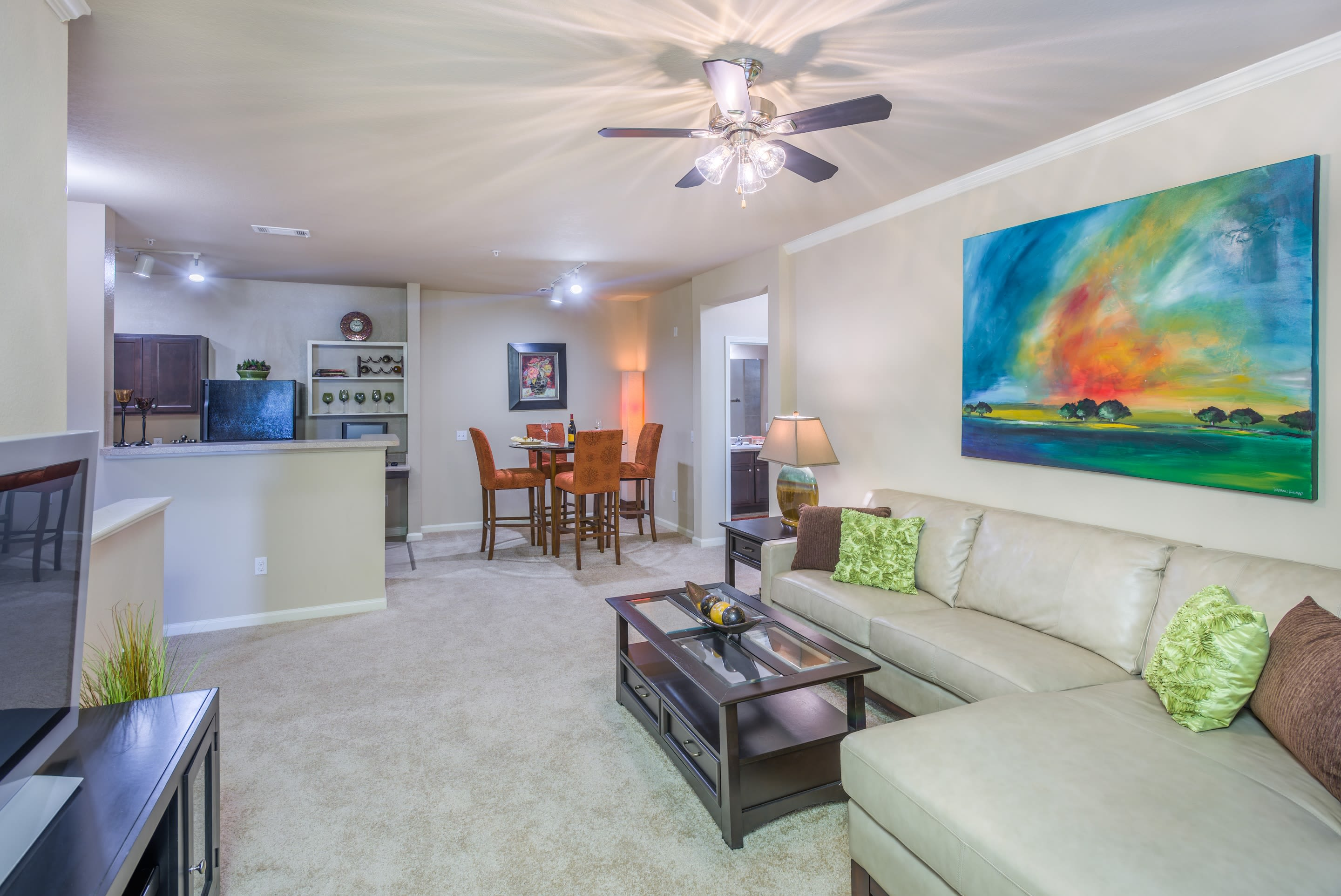 Apartment interior at The Vive in Kannapolis, North Carolina