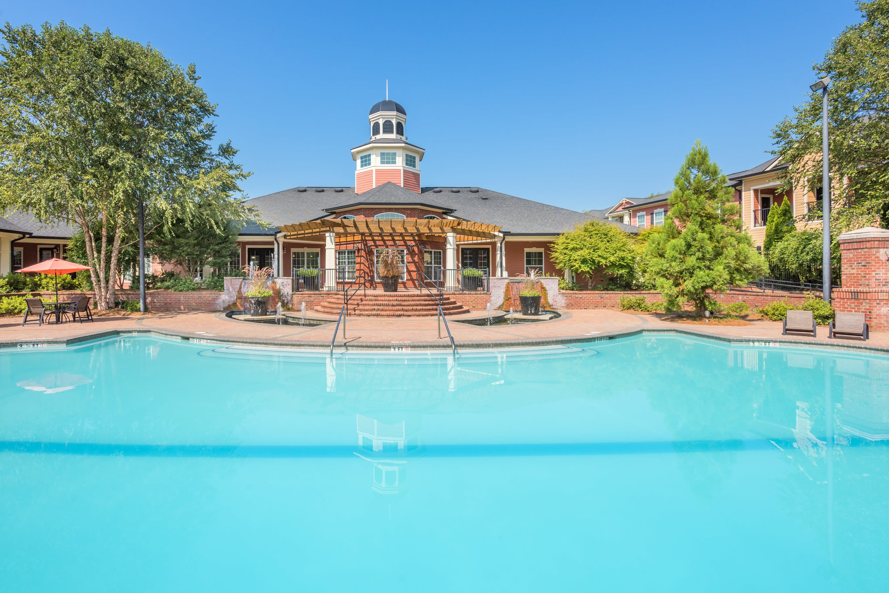 Relaxing pool at The Vive in Kannapolis, North Carolina