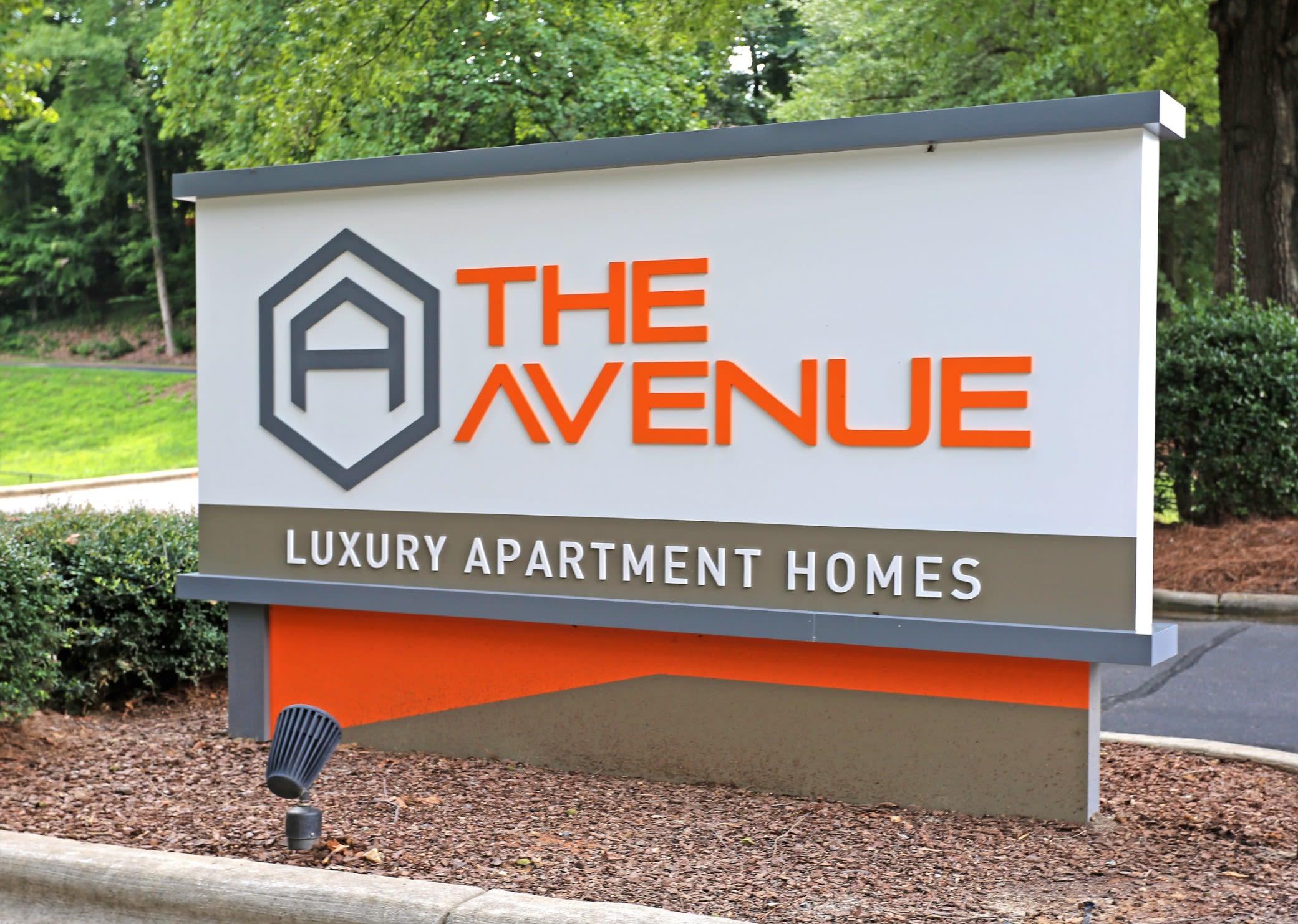 Signage at Greensboro, NC Apartments