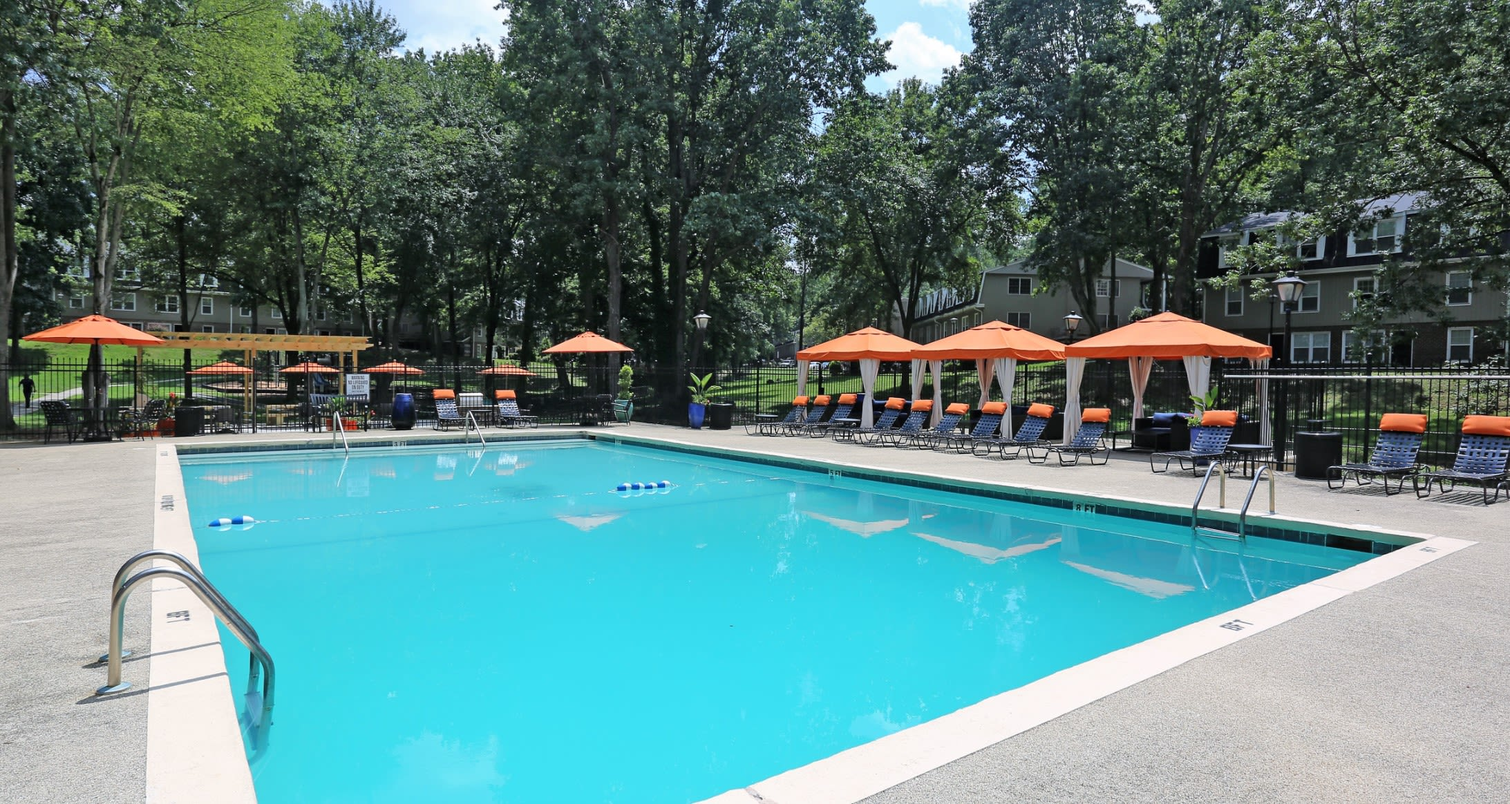 Pool Area @ Greensboro, NC Luxury Apartments
