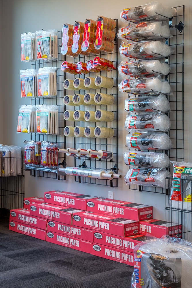 All of the packing supplies you would need at our self storage facility in Raceway Heated Storage in Covington, Washington