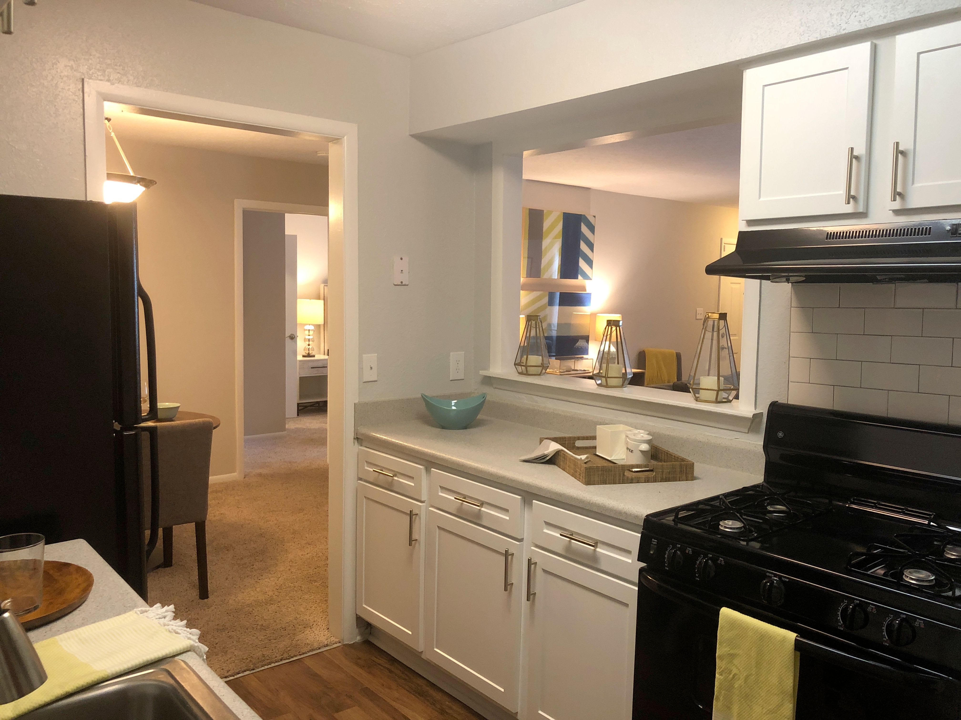 Kitchen area at The Madison Apartments
