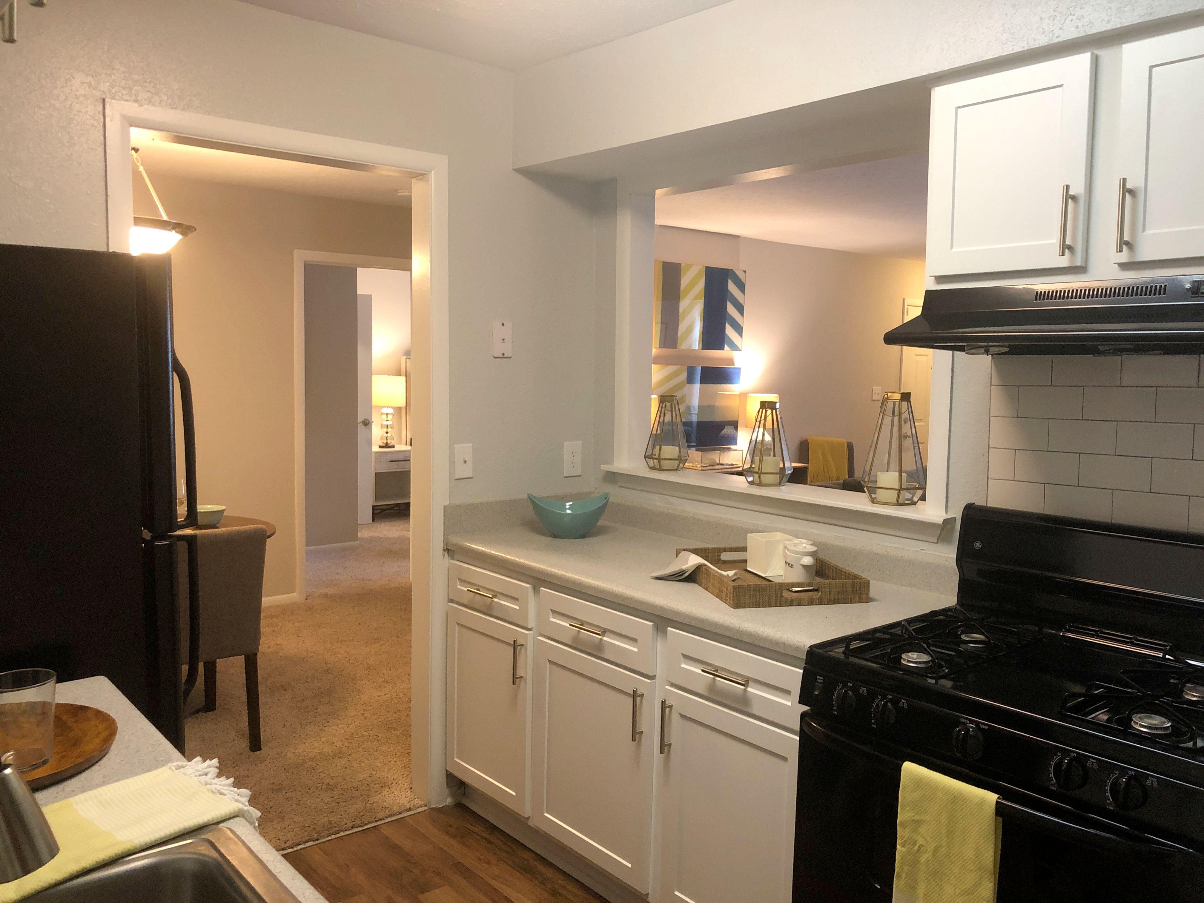 Renovated kitchens at apartments in Charlotte, North Carolina