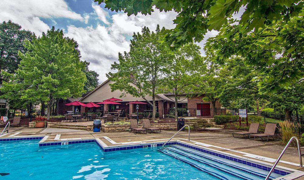 Swimming pool at Club at North Hills in Pittsburgh, Pennsylvania