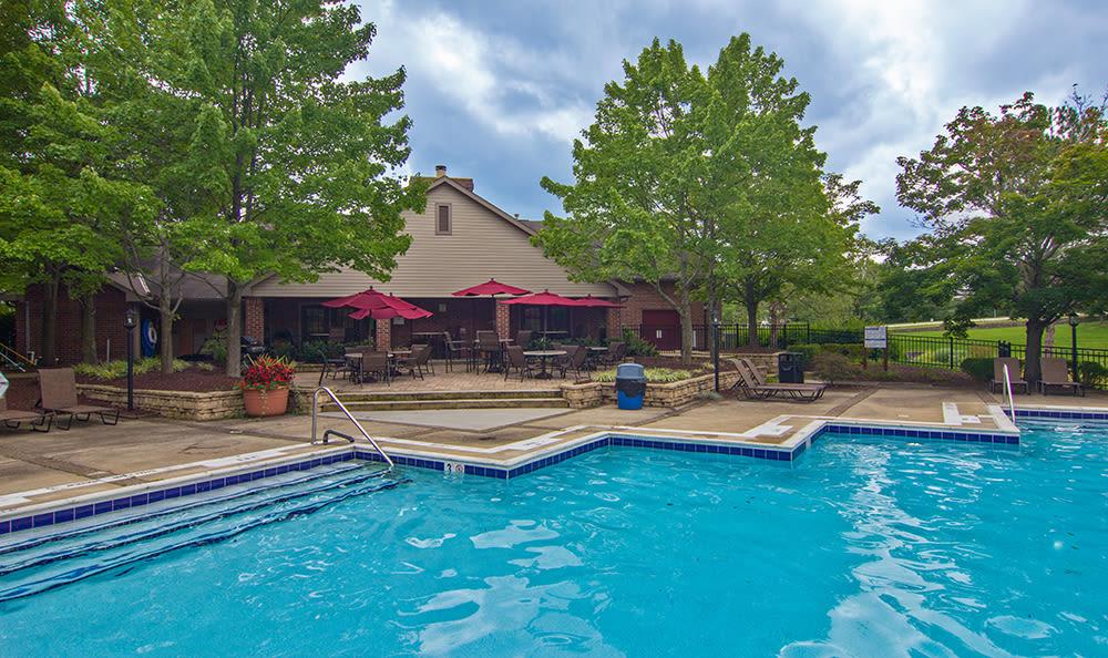 Swimming pool at apartments in Pittsburgh, Pennsylvania