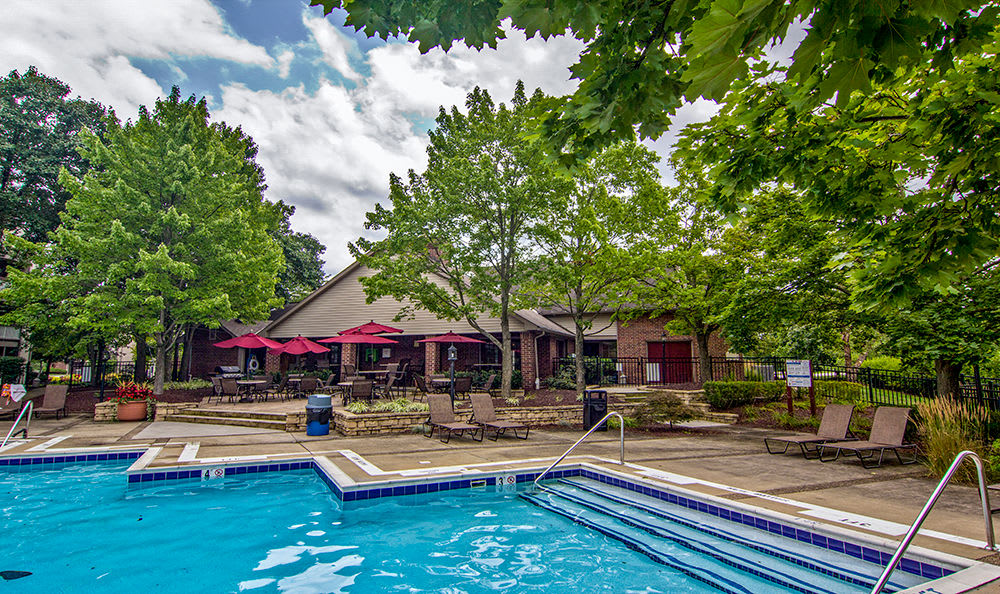 Swimming pool at Club at North Hills in Pittsburgh, Pennsylvania