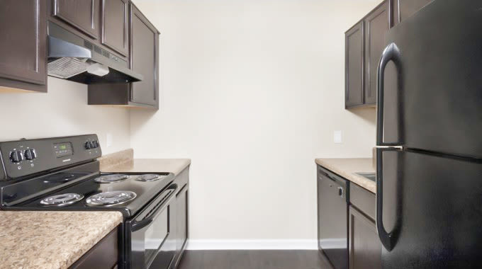 Available floor plans at The Flats at Arrowood in Charlotte
