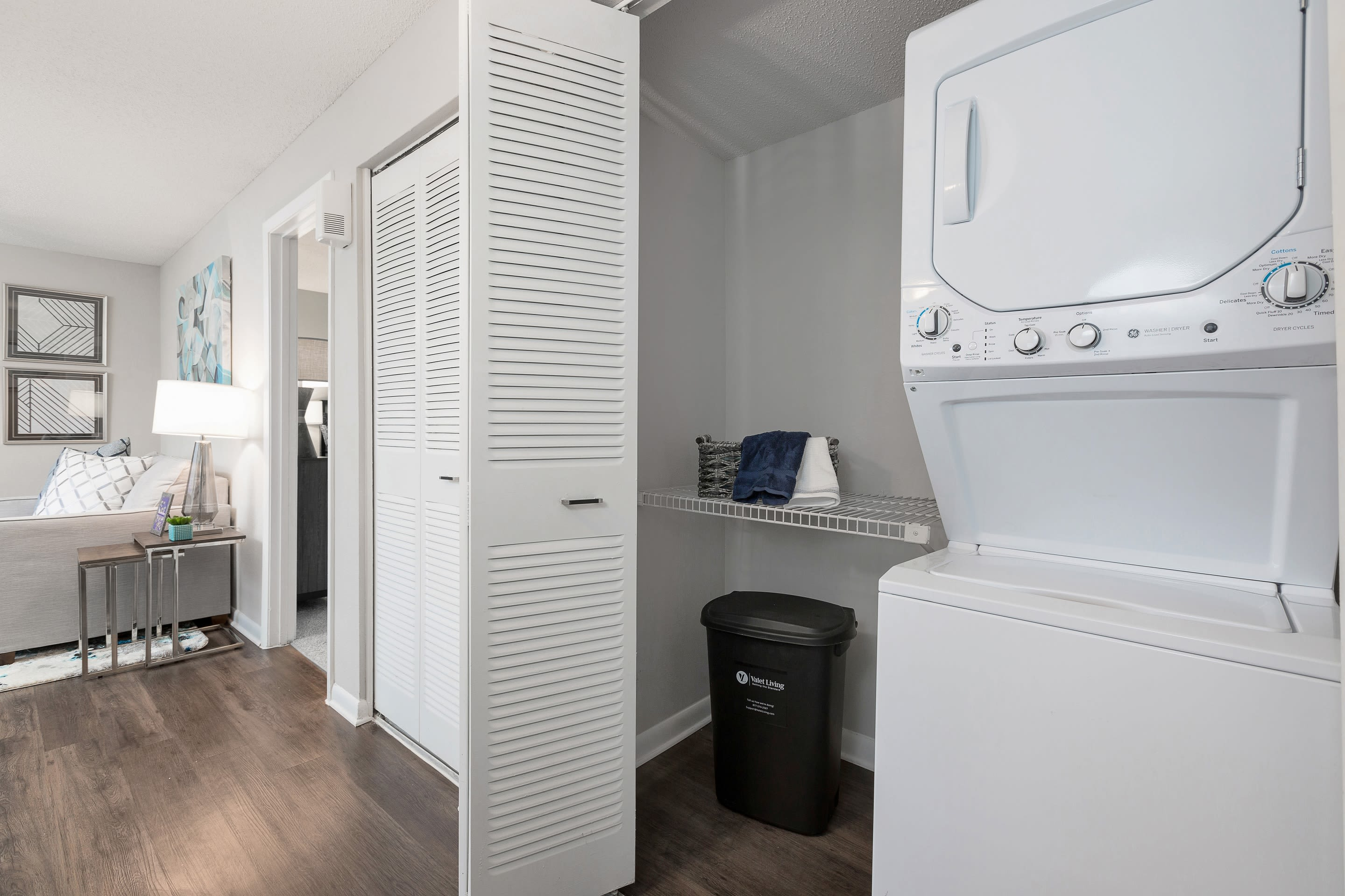 Onsite washers and dryers for residents at WestEnd At 76Ten in Tampa, Florida