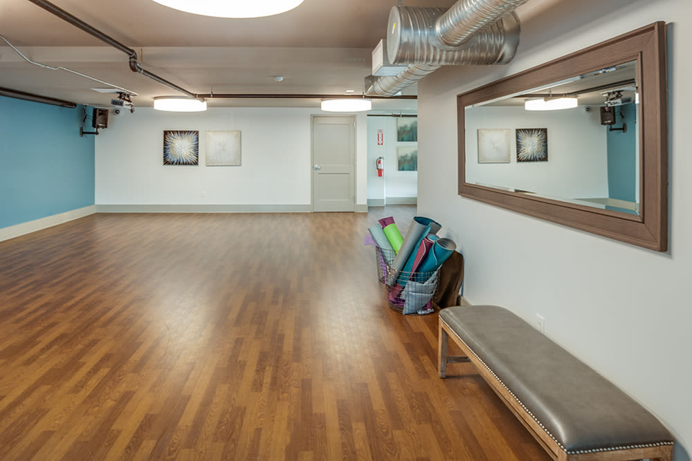 Fitness room at apartments in Cleveland, Ohio