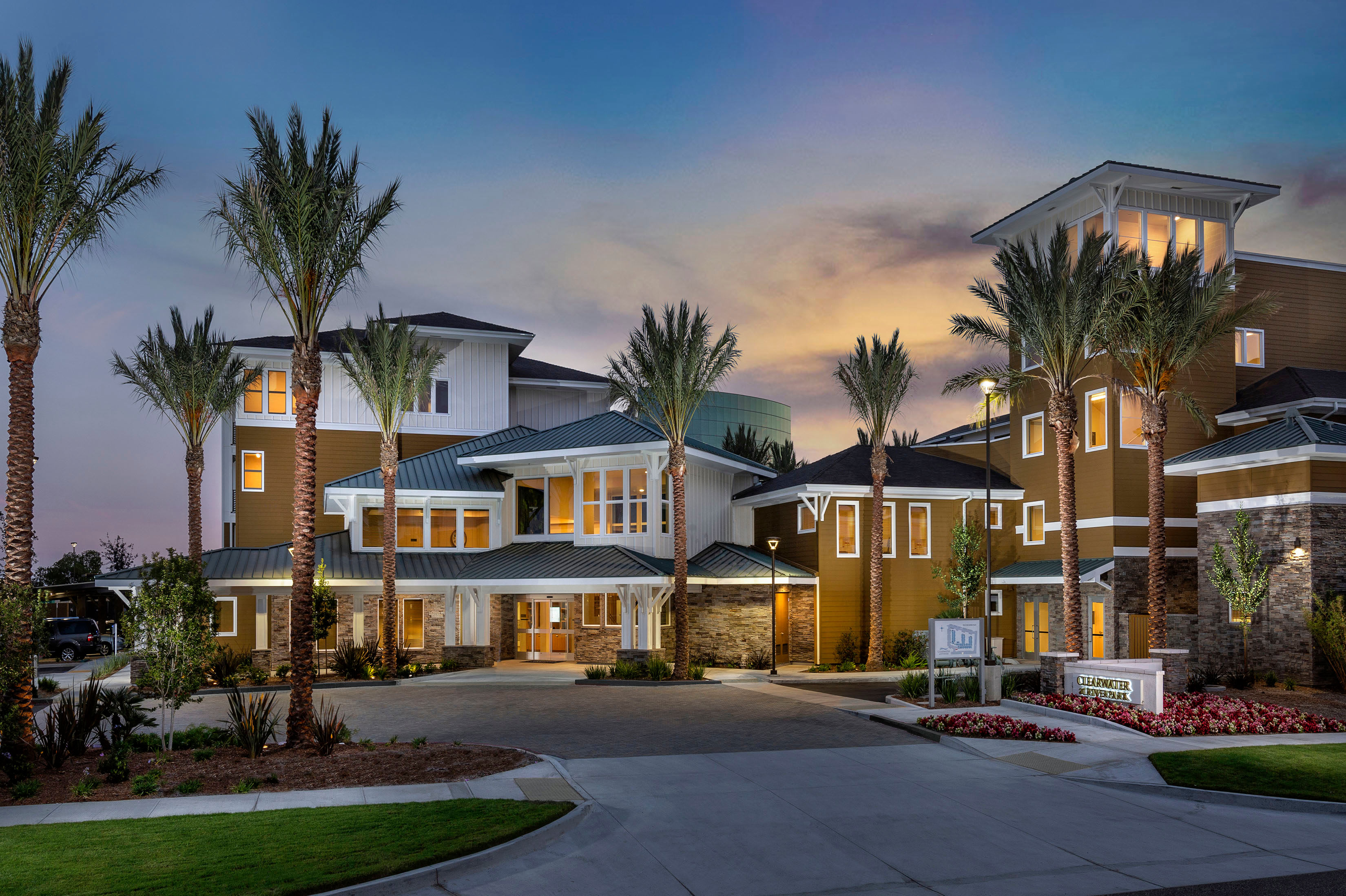 The facade at Clearwater at Riverpark in Oxnard, California