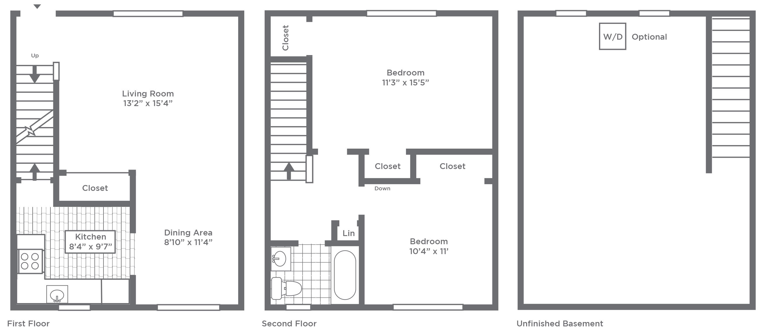 1 & 2 Bedroom Apartments and Townhome Floor Plans | Pleasant View ...