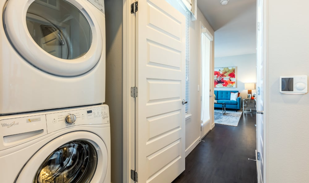 Washer and dryer at apartments in Denver, Colorado