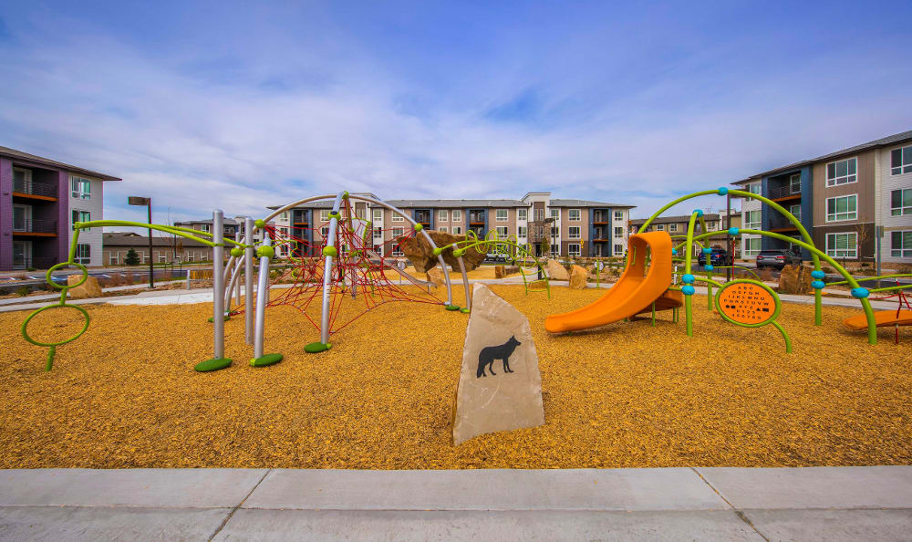 Playground park at Strata Apartments in Denver, Colorado