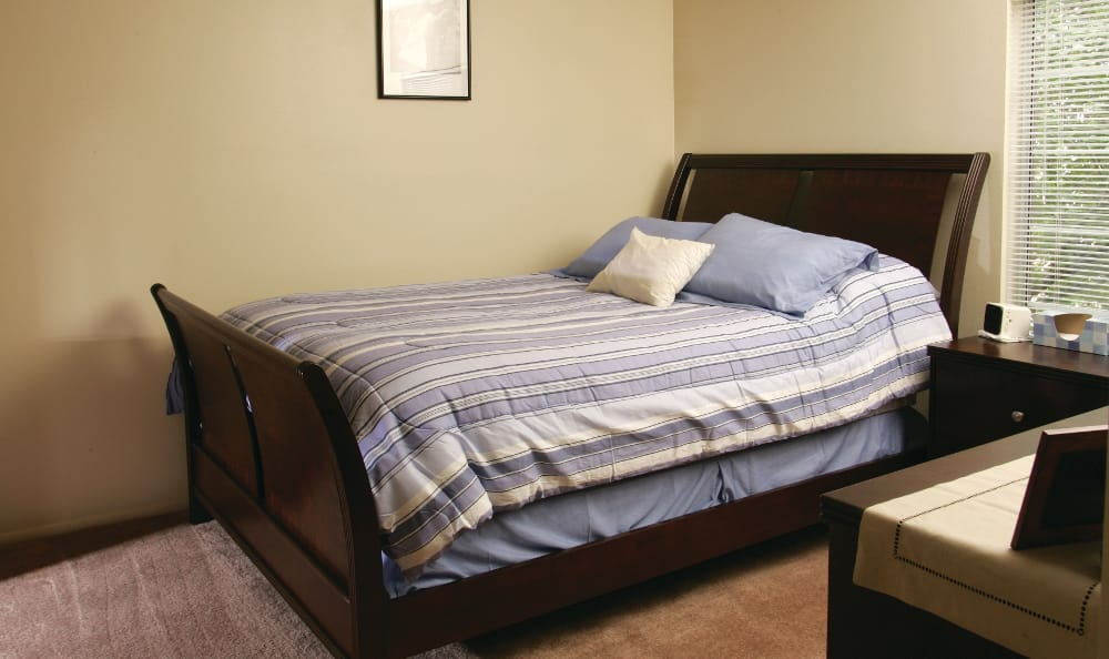 Bedroom at Windgate Apartments in Bountiful, Utah