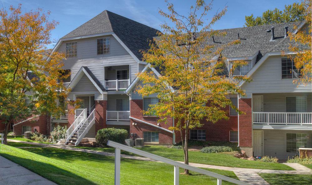 Alternative exterior view of Windgate Apartments in Bountiful, Utah