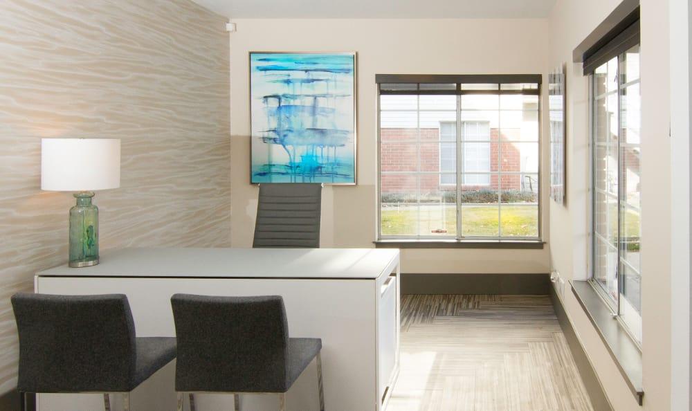 Leasing office at Windgate Apartments in Bountiful, Utah