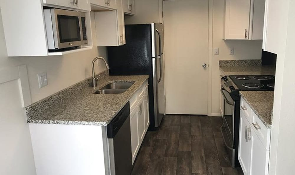 Windgate Apartments kitchen is equipped with appliances