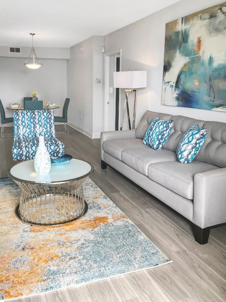 Living Room at Marina Del Mar