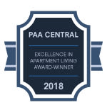 PAA Cental Award for Summit Pointe Apartment Homes in Scranton