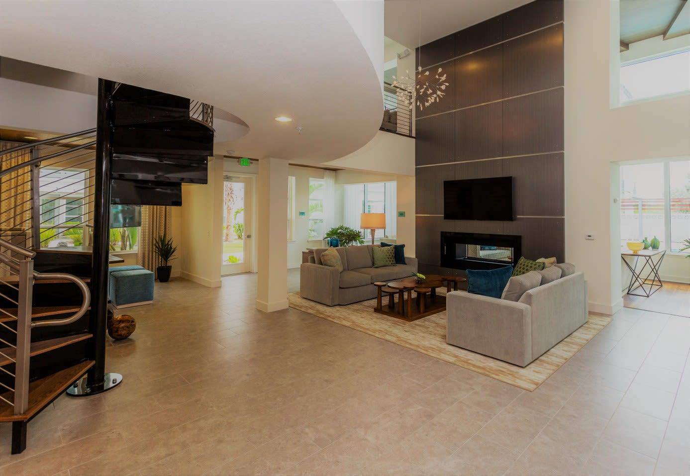 Lobby Area at 50 Paramount Apartments in Tampa Florida