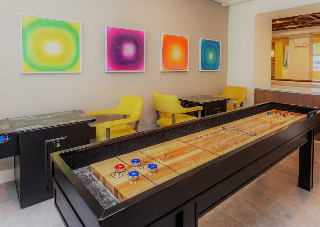 Recreation Room at 50 Paramount Apartments in Tampa Florida