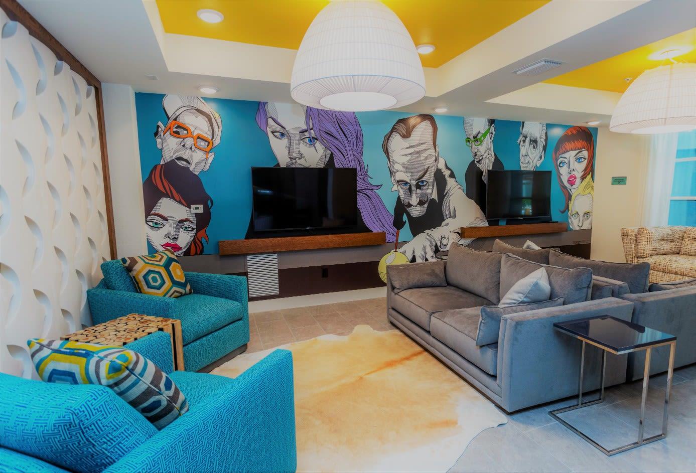 Media Room at 50 Paramount Apartments in Tampa Florida