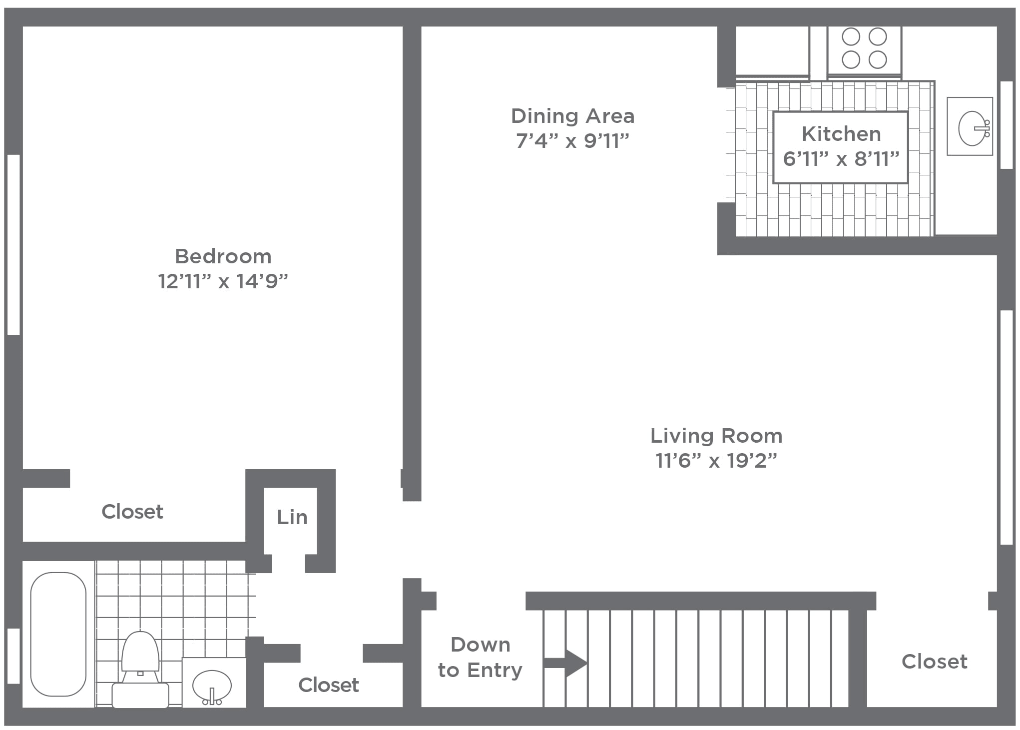 1 2 Bedroom Apartments And Townhome Floor Plans Pleasant