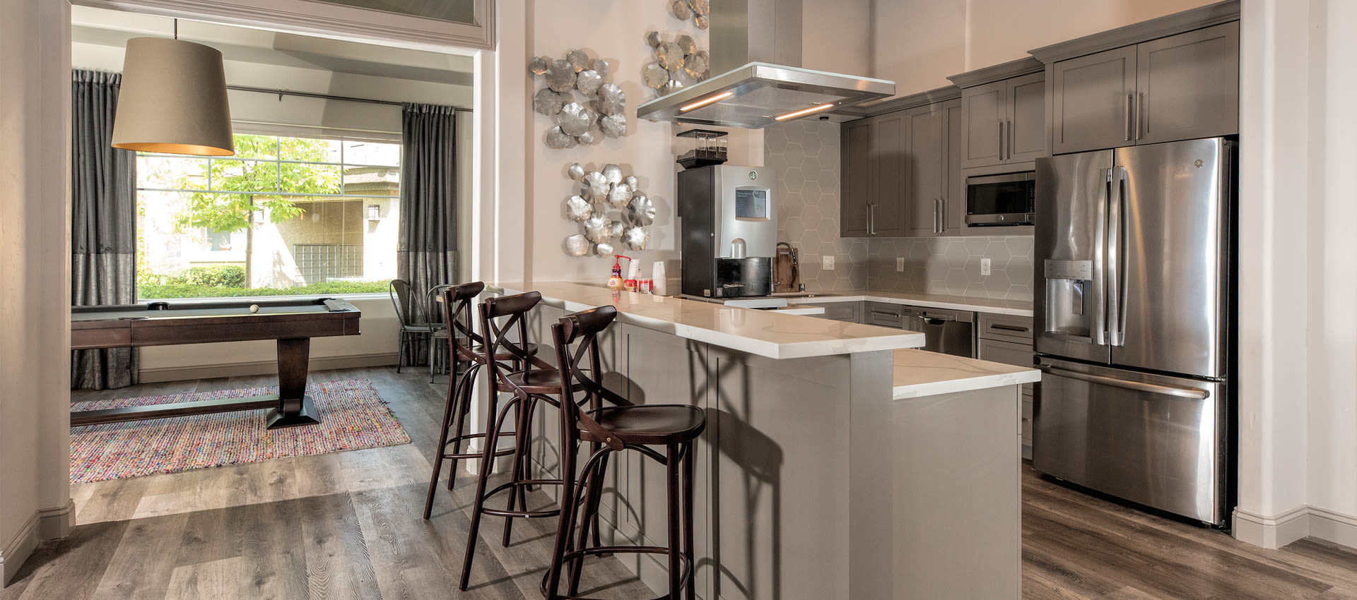 Resident Kitchen with Complimentary Coffee at The Artisan Apartment Homes in Sacramento, California
