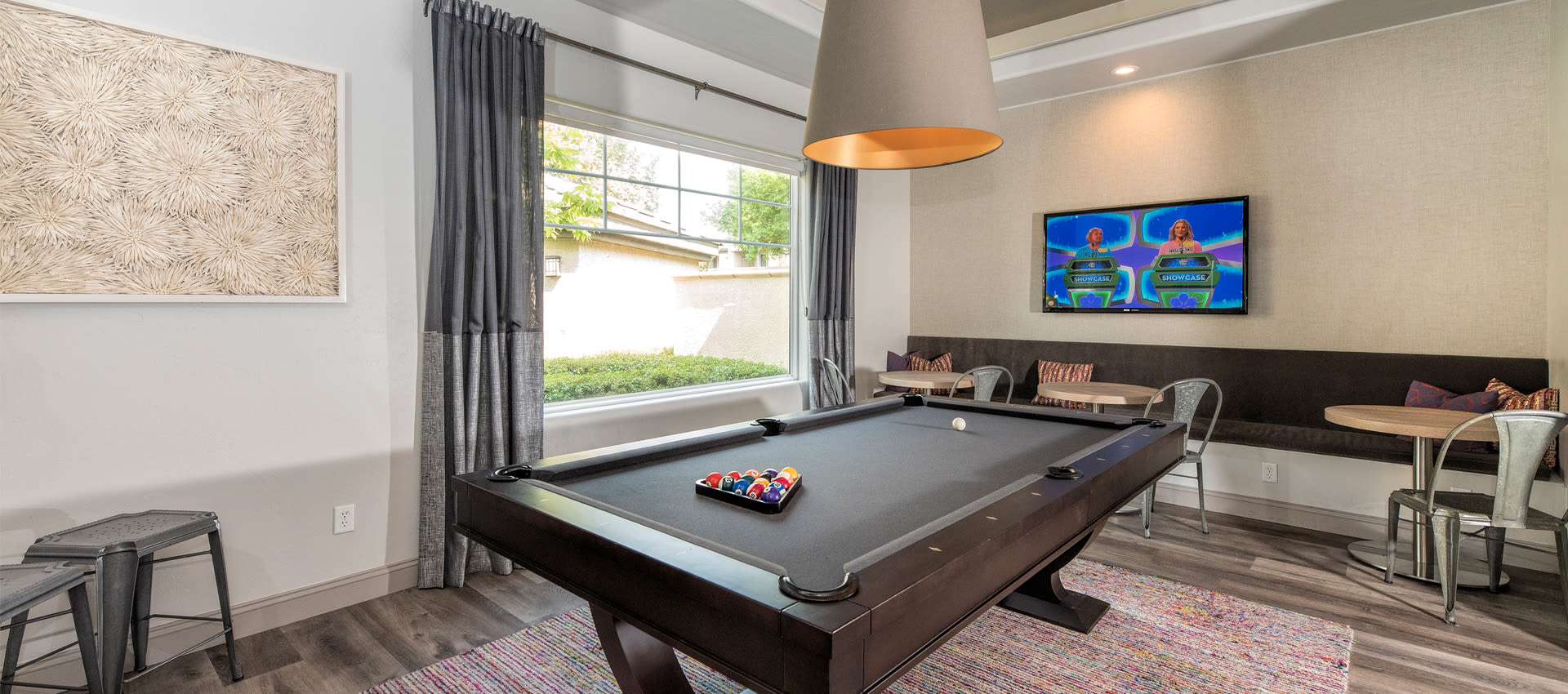 Residents Game Lounge at The Artisan Apartment Homes in Sacramento, California