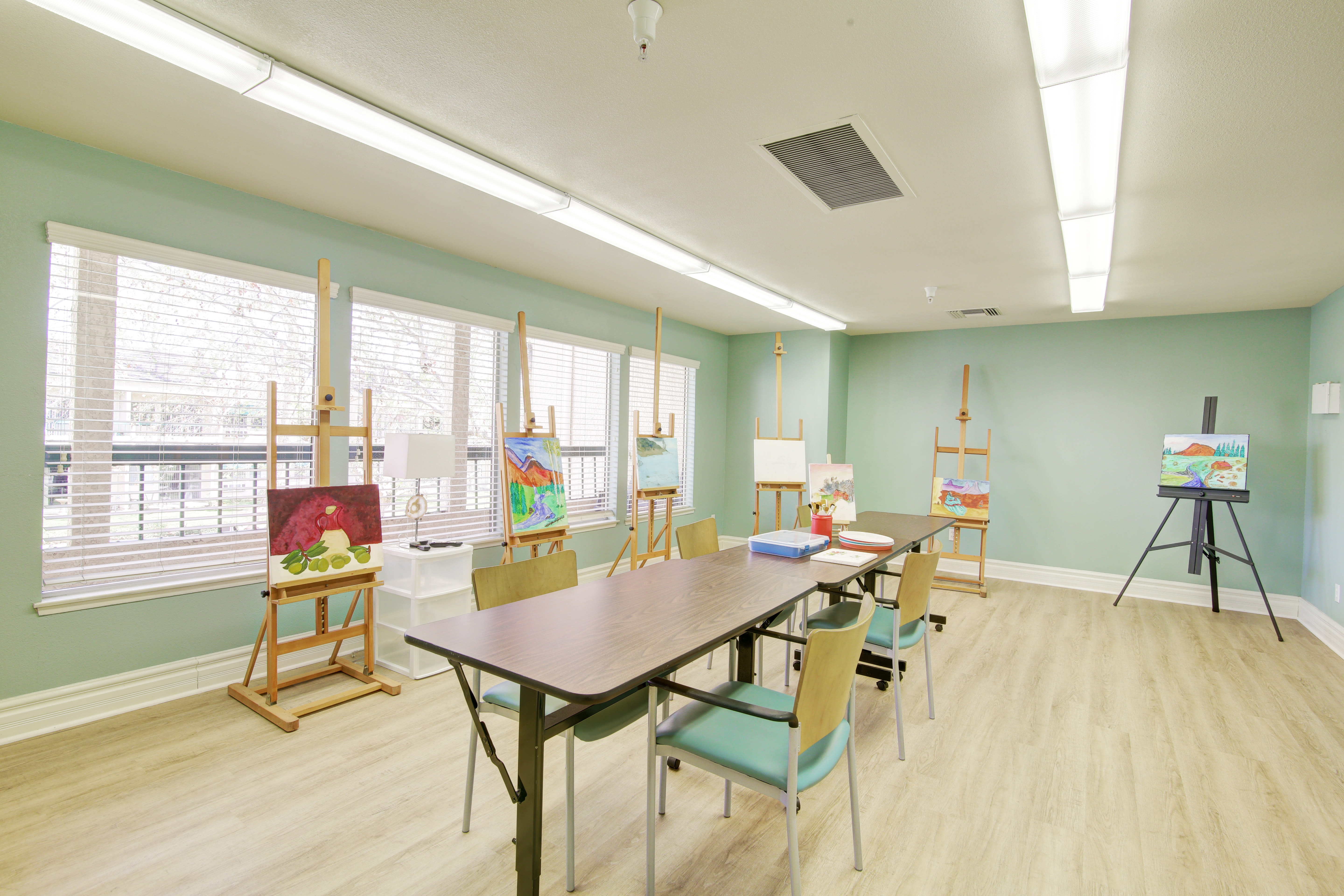 Paint room at Citrus Place in Riverside, California