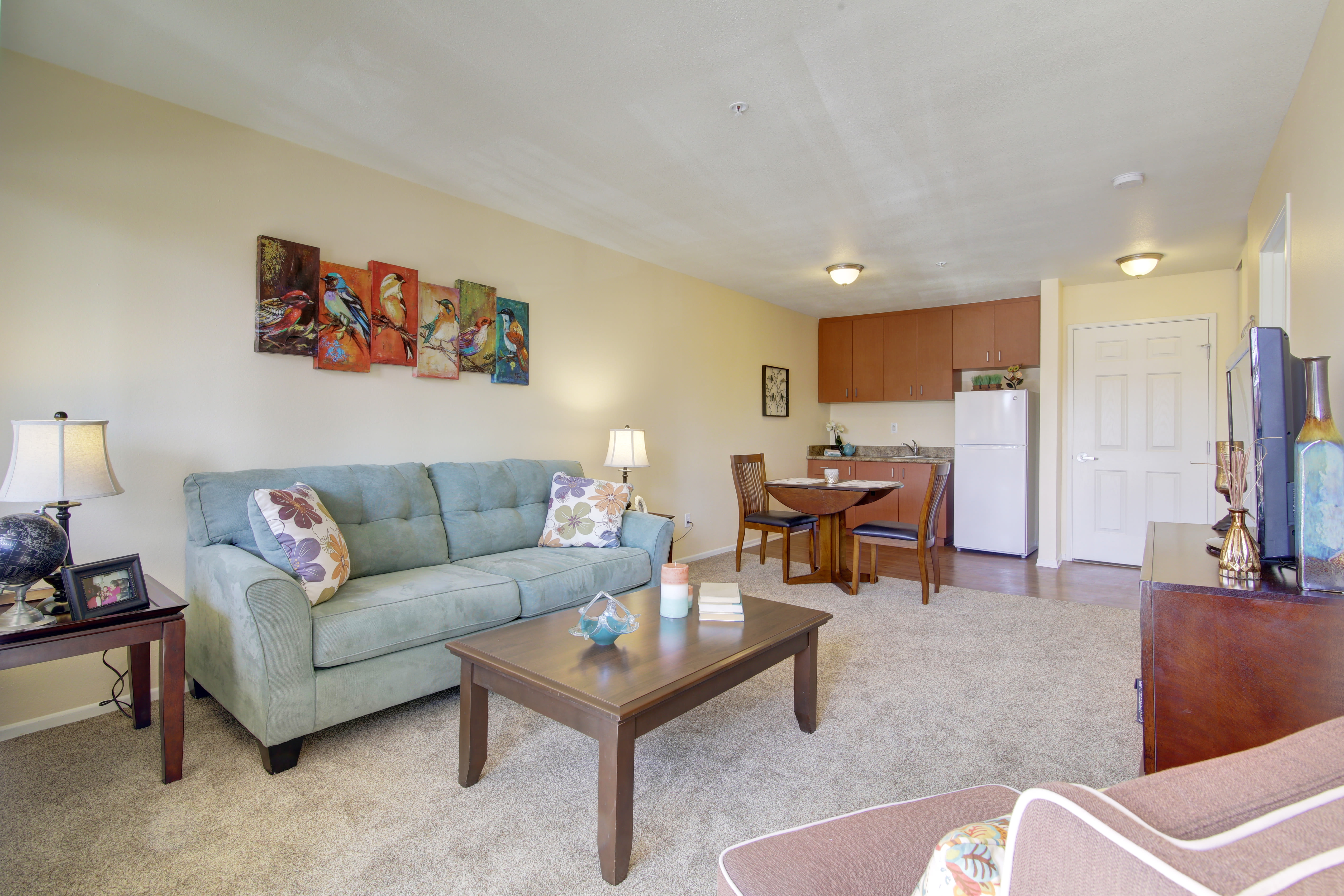 Living room at Citrus Place in Riverside, California