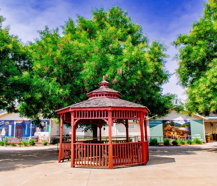 Beautiful gazebo at Pacifica Senior Living Vacaville in Vacaville, California