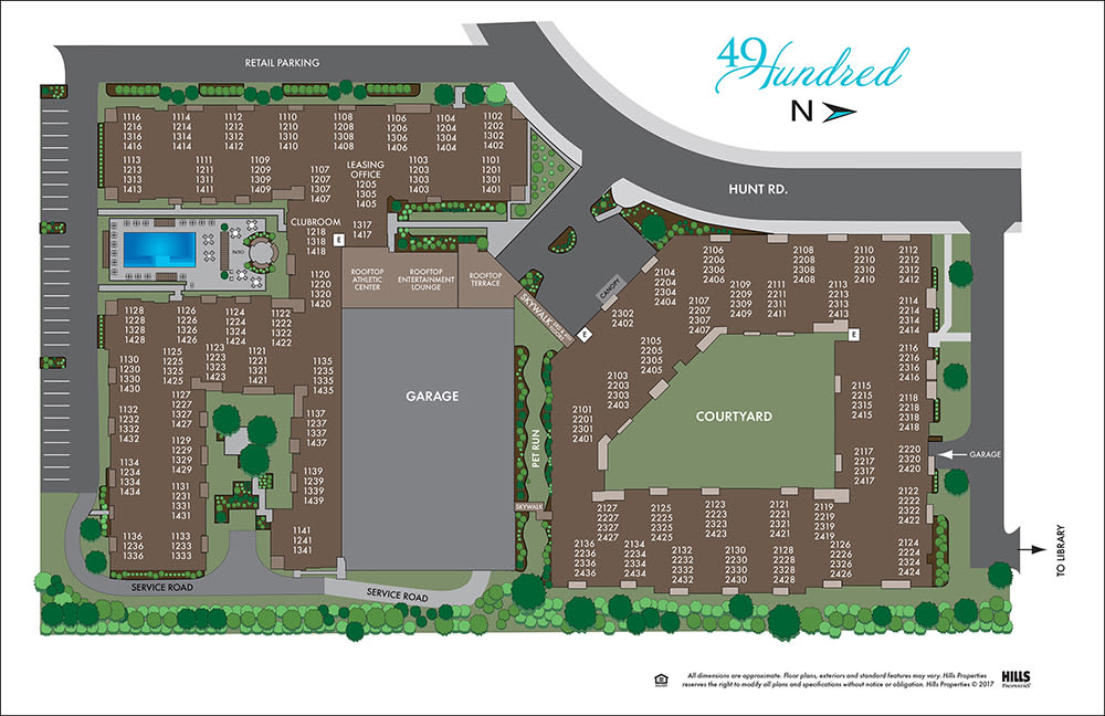 49Hundred property layout