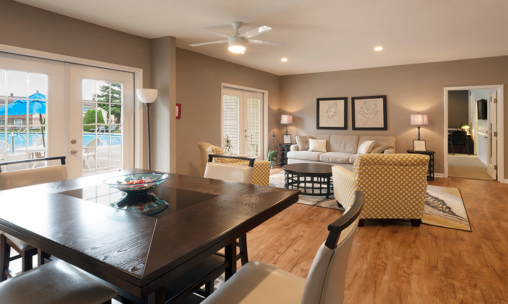 Beautiful clubhouse at Eagle's Crest Apartments in Harrisburg, Pennsylvania