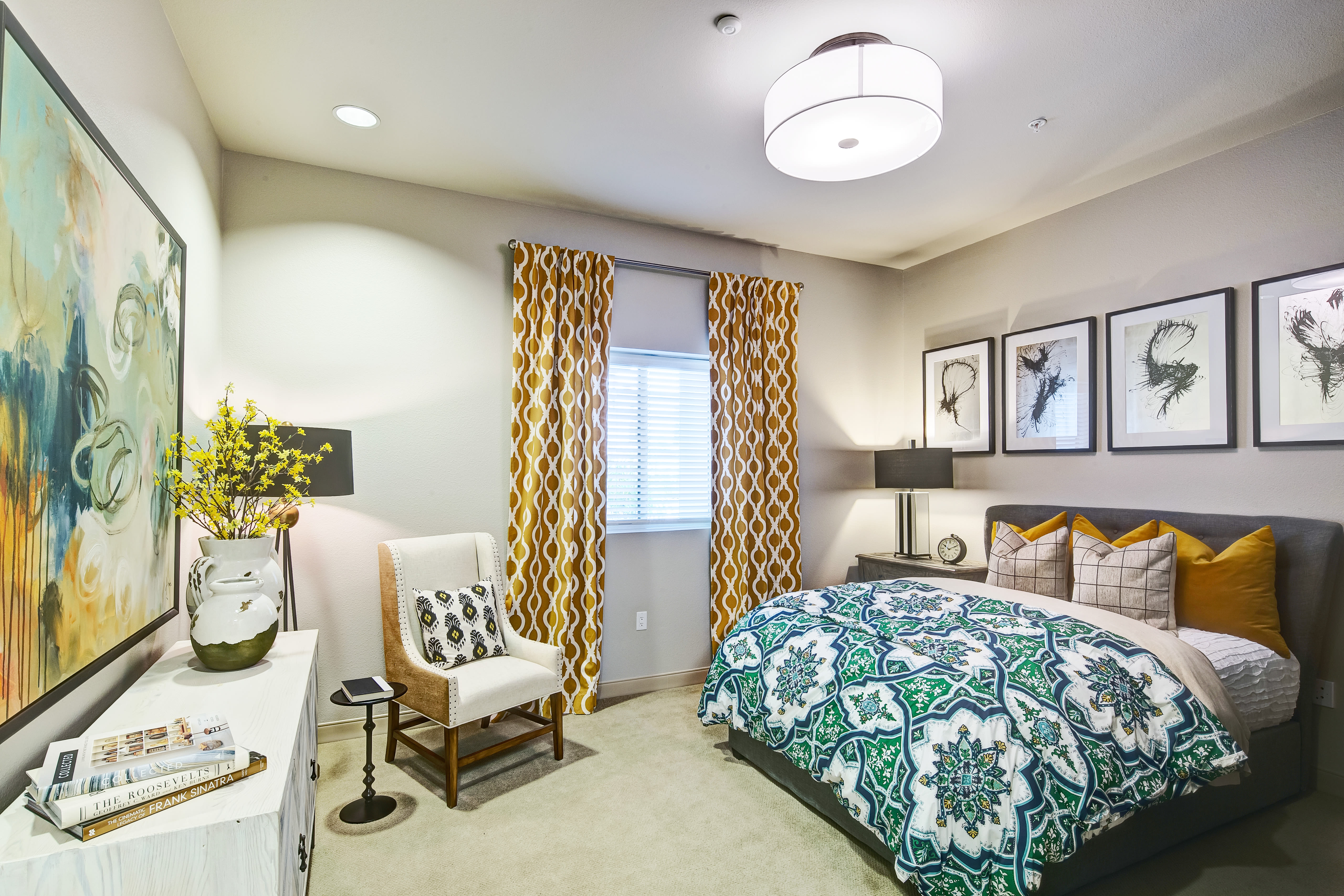Enjoy a bedroom at Clearwater at South Bay senior living community